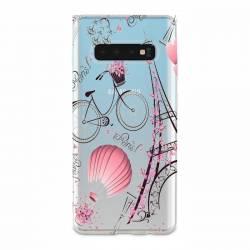 Coque transparente Samsung Galaxy S10e Paris mongolfiere