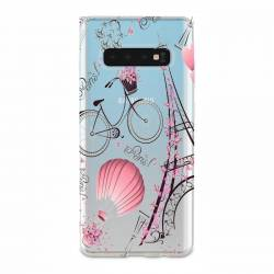 Coque transparente Samsung Galaxy S10 Plus Paris mongolfiere