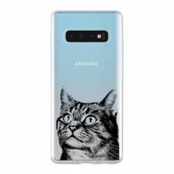 Coque transparente Samsung Galaxy S10 Plus Chaton