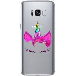Coque transparente Samsung Galaxy S8 Plus + Licorne paillette