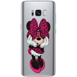 Coque transparente Samsung Galaxy S8 Plus + noeud papillon