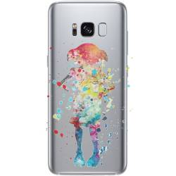 Coque transparente Samsung Galaxy S8 Plus + Dobby colore