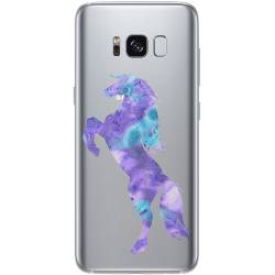 Coque transparente Samsung Galaxy S8 Plus + Cheval Encre