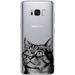 Coque transparente Samsung Galaxy S8 Plus + Chaton