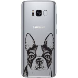 Coque transparente Samsung Galaxy S8 Plus + Bull dog