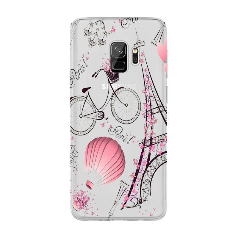 Coque transparente Samsung Galaxy S9 Paris mongolfiere