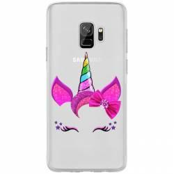 Coque transparente Samsung Galaxy S9 Licorne paillette