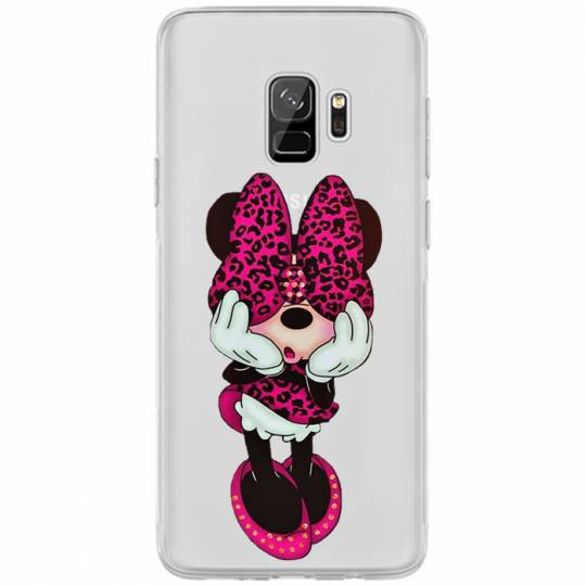 Coque transparente Samsung Galaxy S9 noeud papillon