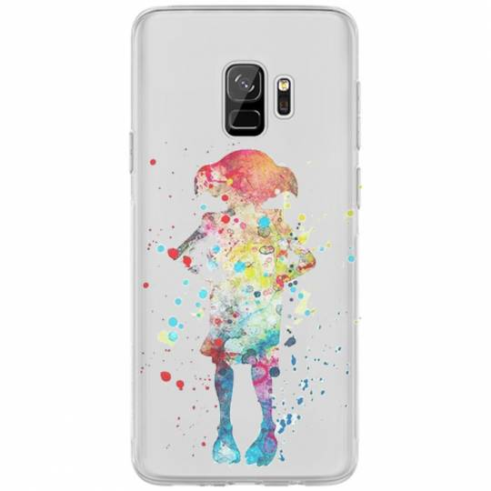 Coque transparente Samsung Galaxy S9 Dobby colore