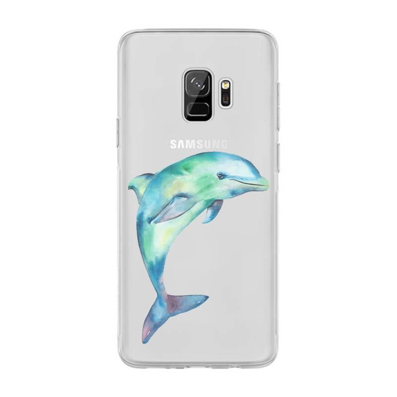 Coque transparente Samsung Galaxy S9 Dauphin Encre