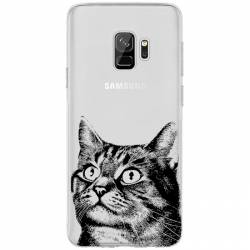 Coque transparente Samsung Galaxy S9 Chaton