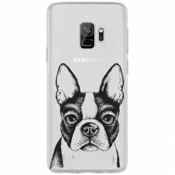 Coque transparente Samsung Galaxy S9 Bull dog