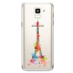 Coque transparente Samsung Galaxy J6 (2018) - J600 Tour eiffel colore