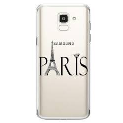 Coque transparente Samsung Galaxy J6 (2018) - J600 Paris noir