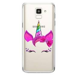 Coque transparente Samsung Galaxy J6 (2018) - J600 Licorne paillette