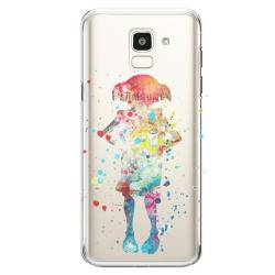 Coque transparente Samsung Galaxy J6 (2018) - J600 Dobby colore
