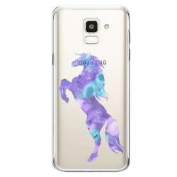 Coque transparente Samsung Galaxy J6 (2018) - J600 Cheval Encre