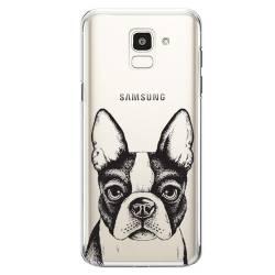 Coque transparente Samsung Galaxy J6 (2018) - J600 Bull dog