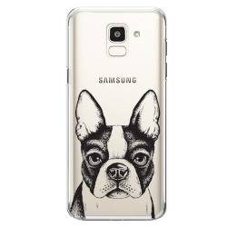 Coque transparente Samsung Galaxy J6 (2018) - J600 Bull dog