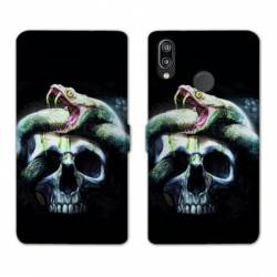 RV Housse cuir portefeuille Huawei P30 LITE reptiles