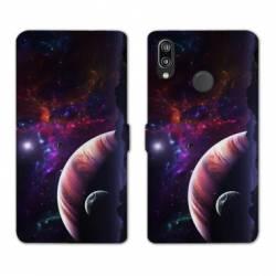 RV Housse cuir portefeuille Huawei P30 LITE Espace Univers Galaxie
