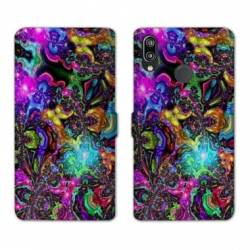 RV Housse cuir portefeuille Huawei P30 LITE Psychedelic