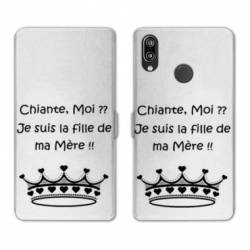 RV Housse cuir portefeuille Huawei P30 LITE Humour