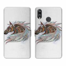 RV Housse cuir portefeuille Huawei P30 LITE Animaux Ethniques
