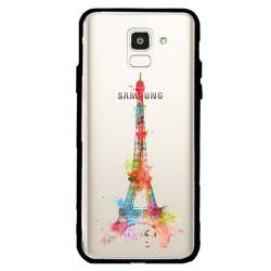 Coque transparente magnetique Samsung Galaxy J6 (2018) - J600 Tour eiffel colore