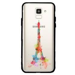 Coque transparente magnetique Samsung Galaxy J6 (2018) - J600 Tour eiffel colore