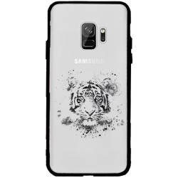 Coque transparente magnetique Samsung Galaxy J6 (2018) - J600 tigre