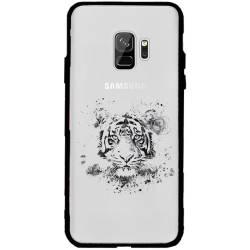Coque transparente magnetique Samsung Galaxy J6 (2018) - J600 tigre