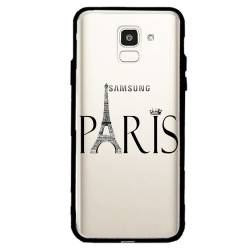 Coque transparente magnetique Samsung Galaxy J6 (2018) - J600 Paris noir