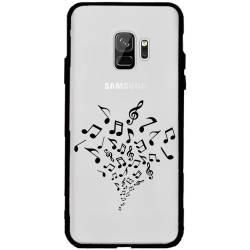 Coque transparente magnetique Samsung Galaxy J6 (2018) - J600 note musique