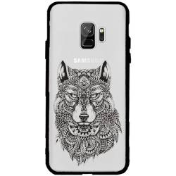 Coque transparente magnetique Samsung Galaxy J6 (2018) - J600 loup