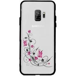 Coque transparente magnetique Samsung Galaxy J6 (2018) - J600 feminine fleur papillon
