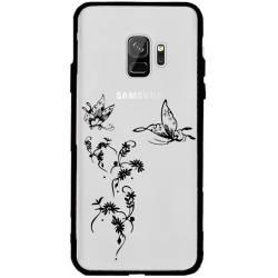 Coque transparente magnetique Samsung Galaxy J6 (2018) - J600 feminine envol fleur