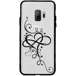 Coque transparente magnetique Samsung Galaxy J6 (2018) - J600 feminine cœur infini