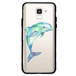 Coque transparente magnetique Samsung Galaxy J6 (2018) - J600 Dauphin Encre