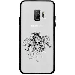 Coque transparente magnetique Samsung Galaxy J6 (2018) - J600 chevaux