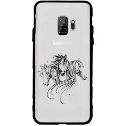 Coque transparente magnetique Samsung Galaxy J6 (2018) - J600 chevaux