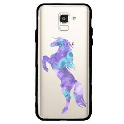 Coque transparente magnetique Samsung Galaxy J6 (2018) - J600 Cheval Encre
