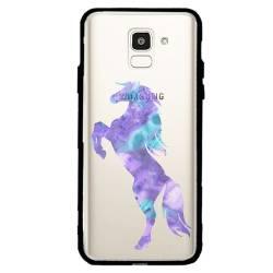 Coque transparente magnetique Samsung Galaxy J6 (2018) - J600 Cheval Encre