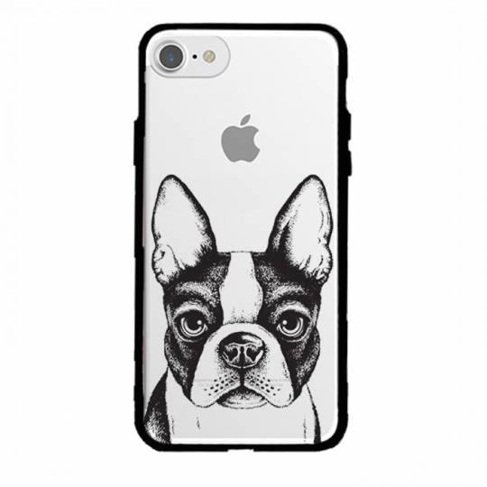 Coque transparente magnetique Iphone 6 / 6s Bull dog