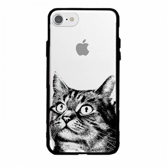 Coque transparente magnetique Iphone 6 / 6s Chaton