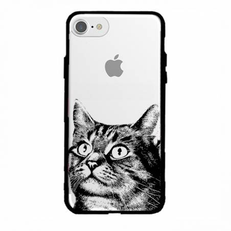 Coque transparente magnetique Apple Iphone 6 / 6s Chaton