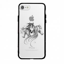 Coque transparente magnetique Apple Iphone 6 / 6s chevaux
