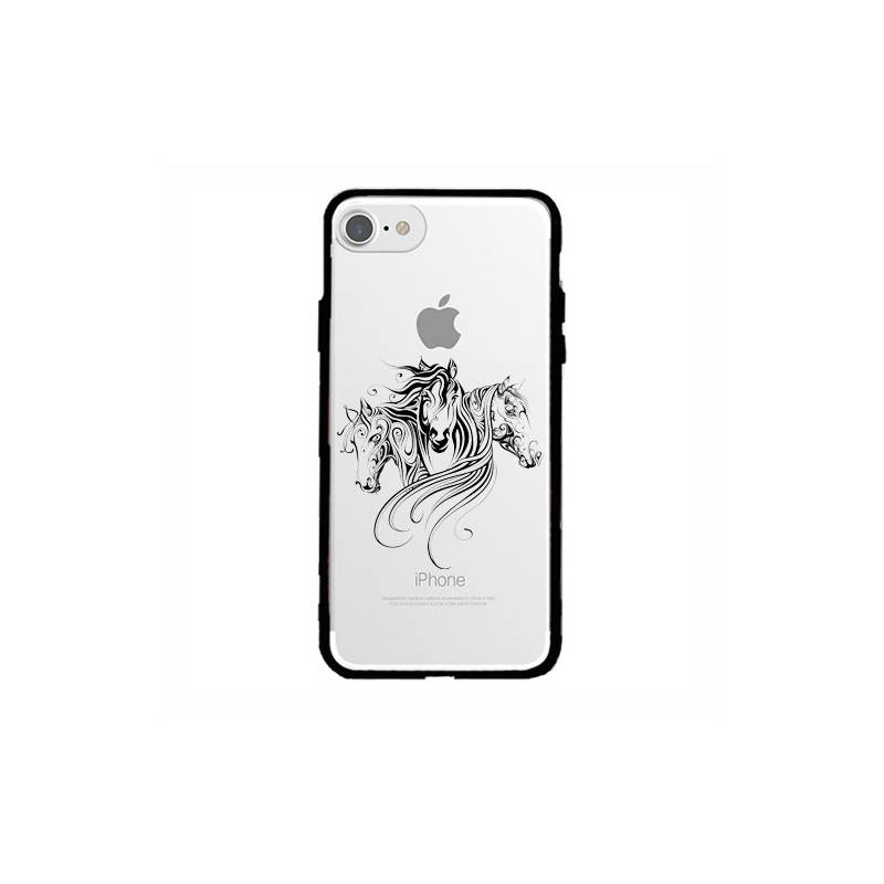 Coque transparente magnetique Apple Iphone 6 / 6s chevaux