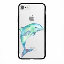 Coque transparente magnetique Apple Iphone 6 / 6s Dauphin Encre