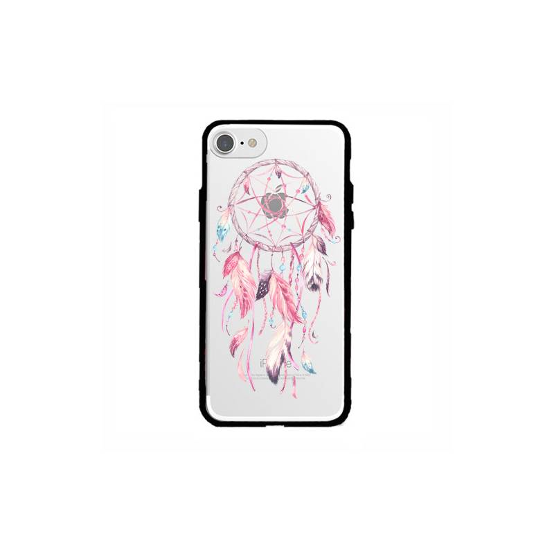 Coque transparente magnetique Iphone 6 / 6s feminine attrape reve rose